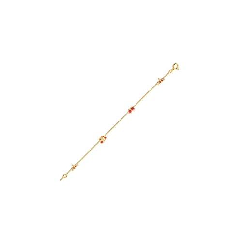 Ysora - Bracelet Pour Enfant En Or Jaune à Motif Papillon En émail - Email - 16 cm