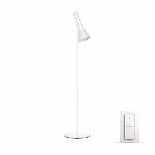Philips Hue Explore - Lámpara de pie blanca con mando, luz regulable de blanca cálida a blanca fría, Iluminación inteligente, compatible con Amazon ...