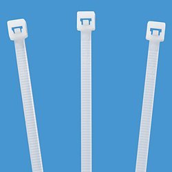 The Packaging Wholesalers 17'' 50 lb Tensile Strength Nylon Natural Cable Ties (CT1750)
