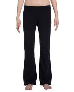 Bella Cotton Spandex Fitness Yoga Pant - Black 810 - Black Bella
