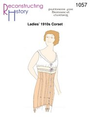 [Ladies' 1910s Corset Pattern] (1910 Costumes)