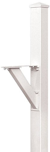 Salsbury Industries 4825WHT In-Ground Mounted Post Modern Decorative Mailbox, White
