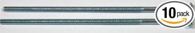 10 Pc 5//8-11 x 24 Carriage Bolts//Partial Thread//Steel//Zinc Carton