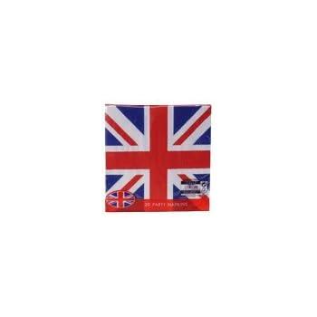 Union Jack (British Flag) Disposable 2ply Paper Napkins-pack 20  sc 1 st  Amazon.com & Amazon.com: Union Jack (British Flag) Disposable 2ply Paper Napkins ...
