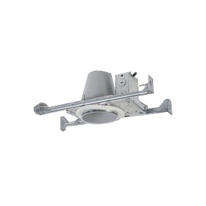 Ceiling New Construction Brackets (Halo E4TATSB E26 Series Steel Recessed Lighting New Construction Non-IC Air-Tite Housing with Adjustable Socket Bracket, 4