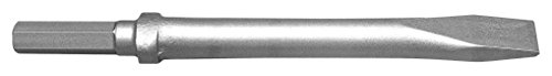 Champion Chisel, 12-Inch Long .580 Hex Shank Oval Collar Chipping Hammer Narrow, Flat Chisel by Champion Chisel Works