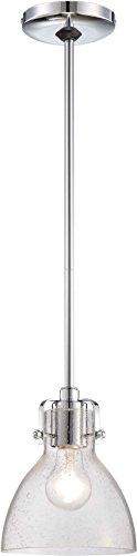 Minka Lavery 2244-77 Farmhouse Mini Cone Pendant Ceiling Lighting, 1-Light, 100 Watt, Chrome