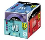 Sony 10MDW80CL 80 Minute Minidisc Color Collection, 10-Pack (Discontinued by Manufacturer)