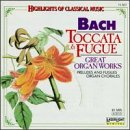 JOHANN SEBASTIAN BACH - Bach Toccata Fugue, Great Organ Works - CD - NEW  - $24.75