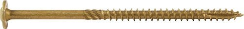 Screw Products .31 x 5 In. Bronze Star Exterior Construction Lag Screws - 350 Count