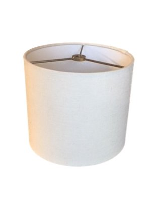 Upgradelights White Linen 8 Inch Round Hardback Shade - Chandelier Round Comfort Visual