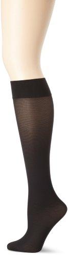 Hue Dress Socks (Hue Women's 3 Pair Pack Opaque Trouser Sock, Black, Large/X-Large (02))