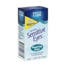 Bausch & Lomb Sensitive Eyes Rewetting Drops 0.5 Fl Oz ( Pack of 3) ()