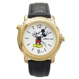 Lorus Musical Disney Mickey Moving Hands Watch in Attractive Gold Tone Case