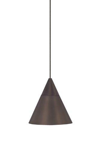 Contemporary Monorail Head (Tiella 800RLSLPZ Sola Collection 1 Light 12-Volt Mini-Pendant for MonoRail, Bronze Finish Hardware)