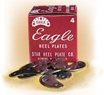Metal Heel Boots (Eagle Heel Plates 35 Pair a Box of Size Large Metal Heel Plates & Nails for Shoes & Boots)
