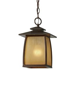 Murray Feiss OL8511SBR, Wright House Cast Aluminum Outdoor Ceiling Lighting, 100 Watts, Sorrel Brown