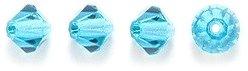 Preciosa 4-Mm Czech Crystal Diamond/Bicone Bead, Indicolite, 144-Piece