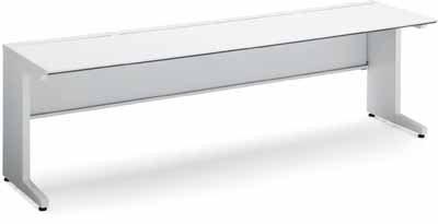 iSデスクシステム スタンダードテーブル 幅1000×奥行き750mm 引き出しなし 天板色:MB3(ミディアム) B00AT827LI