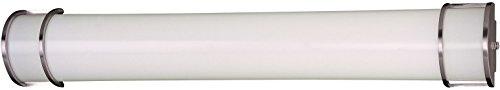 (Minka Lavery Wall Light Fixtures 646-PL Vanities Glass Bath Vanity Lighting, 2 Light, 50 Watts Fluorescent, Bronze)