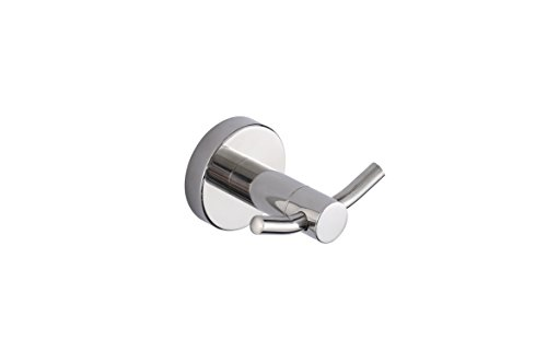 KTY SUS304 Stainless Steel Coat Hook Double Towel/Robe Clothes Hook for Bath Kitchen Garage Heavy Duty Wall Mounted, Polished Finish