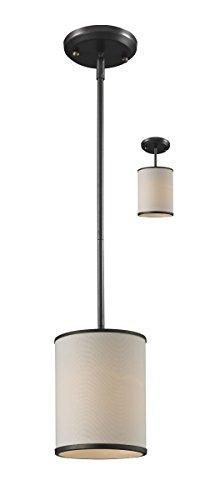 Mini Pendants 1 Light with Factory Bronze Finish Steel Medium Base Bulb 6 inch 60 Watts