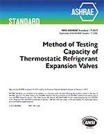 Standard 17-2015 -- Method of Testing Capacity of Thermostatic Refrigerant Expansion Valves (ANSI (Refrigerant Expansion Valve)
