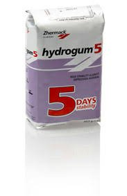 Hydrogum 5, C302070-Case, Extra Fast Dust Free Alginate 12 - 1 Lb Bags. Thixotropic, Time in mouth 45