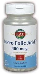 Micro Folic Acid 400mcg Kal 180 Tabs (Acid 180 Tabs)