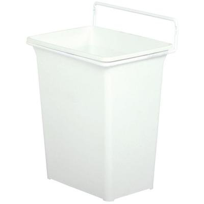 Knape & Vogt 13.38 in. x 9.5 in. x 7 in. Easy-To-Clean In-Cabinet Door Mounted 9 Qt. Trash Can