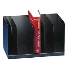 Book Rack, Adjustable, 5 Dividers, 15