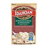 Idahoan Mashed Potatoes Baby Reds Roasted Garlic & Parmesan 4.1 oz (Pack of 12) Creamy Garlic Mashed Potatoes