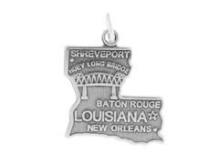 (Sterling Silver Louisiana State Charm)