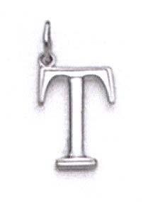 "Pendentif initiale T Blanc 14 carats 11/16 ""- JewelryWeb"