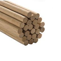 "10 Pcs, 3/8"" X 36"" Oak Wood Dowels Mix Of Red And"