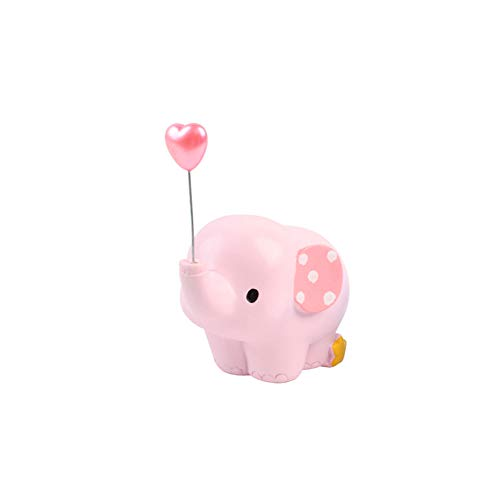 - Asien Elephant Cake Decor Pink with Balloon Birthday Favor Resin Craft Table Ornament Mini Elephant Figurine