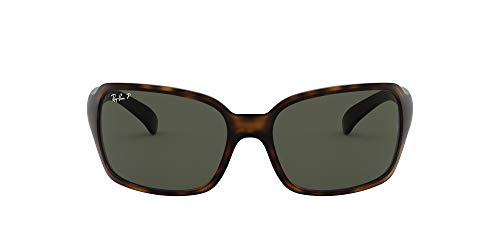 Ray-Ban RB4068 Square Sunglasses, Matte Havana/Polarized Green, 60 mm (Ray Bans Cheap)