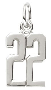Rembrandt Charms Number 22 Charm, Sterling Silver