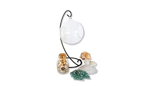 Great Gift Idea! Globe Terrarium Calming Beach Kit with Stand