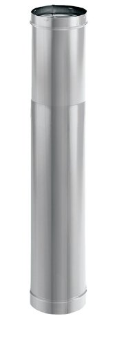 DuraVent 6DBK-TLSS 6'' Inner Diameter - DuraBlack Stove Pipe - Single Wall - 44'', Stainless Steel by DuraVent (Image #1)