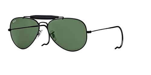 Ray-Ban RB3030 OUTDOORSMAN L9500 58M Black/Green Crystal Sunglasses For Men For Women (Ray Ban Optiker)