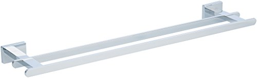 Amazon Bar (AmazonBasics Euro Double Towel Bar Bathroom Rack, Polished Chrome, 21 Inch)