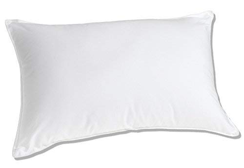 Luxuredown White Goose Down Pillow (Good for Back and Side Sleepers)