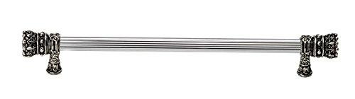 carpe diem hardware 6721–9Crowning Glory King Henry o.c. largo tirar con casquillo decorativo, 9-inch