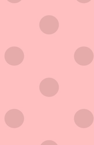 Journal: Pink Polka Dot Notebook or Diary, Lined Paper, Soft Cover, Matte Finish (Elite - Dot Journal Polka