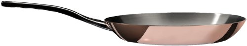 PRIMA MATERA Round Copper Stainless Steel Fry Pan 8-Inch by De Buyer