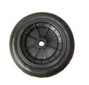 12wheelbarrow solid wheel BLACK/replacement for 14pneumatic NO MORE PUNCTURES (MADE IN UK) by Keto - Shopping In Uk