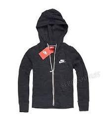 Nike Girl's Sportswear Gym Vintage Full Zip Hoodie (Anthracite/Sail) Medium