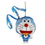 Lovely Cartoon Shaped Cotton Stuff Plush Purse with Neck Strap-Doraemon