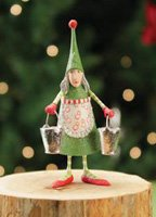 Patience Brewster Christmas Ornaments (Patience Brewster 12 Days - Day 8 Mini Maid A Milking Christmas Ornament 08-30643)